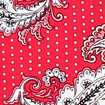 Women: Designer Sale: Red Novel Ellen Tracy Printed Short Tunic
