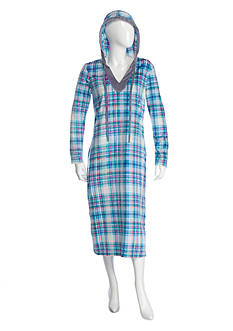 Ellen Tracy Hooded Lounger Sleepshirt