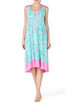 Ellen Tracy Sleeveless Midi Gown