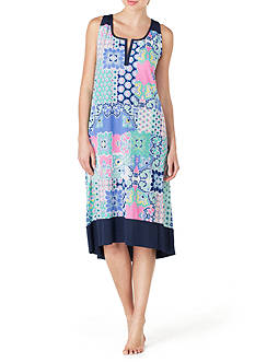 Ellen Tracy Sleeveless Midi Gown
