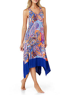 Ellen Tracy Paisley Print Nightgown