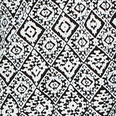Womens Sleep Shirts: Black / Ivory Ellen Tracy Printed Mesh Trim Top