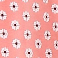 Womens Sleep Shirts: Coral Print Ellen Tracy Printed Mesh Trim Top