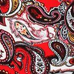 Women: Tops Sale: Red / Paisley Ellen Tracy Long Sleeve Pajama Top