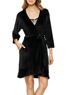 Ellen Tracy Baby Fleece Ruffle Robe