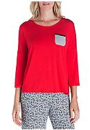 Ellen Tracy Three Quarter Sleeve Solid Top
