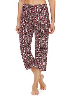 Ellen Tracy Printed Crop Pants