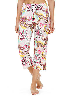 Ellen Tracy Printed Crop Pants
