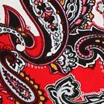 Womens Pajama Pants: Red / Paisley Ellen Tracy Long Printed Pants