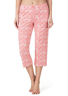 Ellen Tracy Printed Cropped Pant