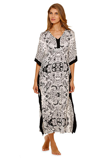 Ellen Tracy Long Medallion Caftan