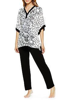 Ellen Tracy Caftan Pajama Set
