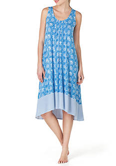 Ellen Tracy Printed Midi Gown