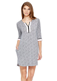 Ellen Tracy Heart Print Short Tunic
