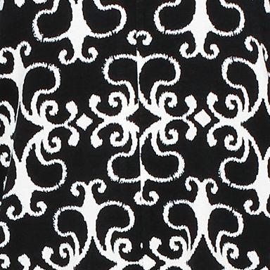 Women: Pajama Sets Sale: Black Scroll Print Ellen Tracy Printed Caftan Pajama Set