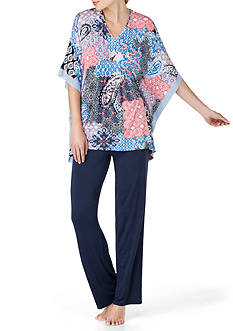 Ellen Tracy Caftan Pajama Set