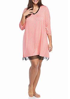 Ellen Tracy Plus Size 3/4 Sleeve Chemise