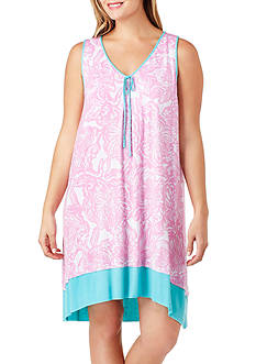 Ellen Tracy Plus Size Sleeveless Sleep Gown