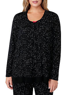Ellen Tracy Plus Size Long Sleeve Pajama Top