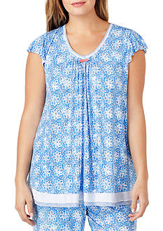 Ellen Tracy Plus Size Flutter Top