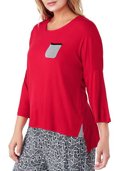 Ellen Tracy Plus Size 3/4 Sleeve Top
