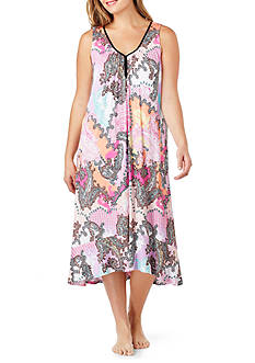 Ellen Tracy Plus Size Sleeveless Midi Gown