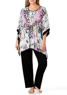 Ellen Tracy Plus Size Caftan Pajama Set