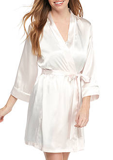 Linea Donatella Satin Bridal Wrap Robe