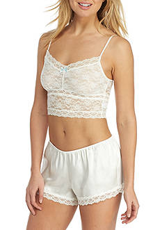 Linea Donatella 2-Piece Stretch Lace Bralette and Satin Boxer Set