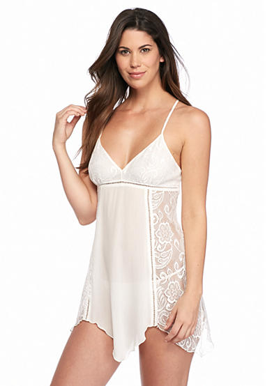 Linea Donatella Crinkle Chemise with Lace