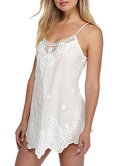 Linea Donatella Embroidered Cotton Chemise