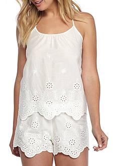 Linea Donatella Embroidered Cotton Pajama Set