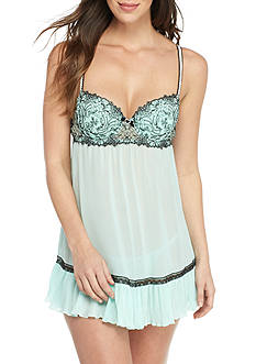 Cinema Etoile Molded Cup Chiffon Embroidered Babydoll