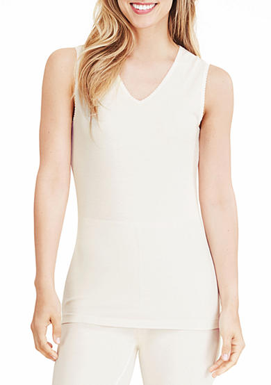 Cuddl Duds® Softwear Lace Edge V-Neck Tank with Smart Layer -  CD8218835