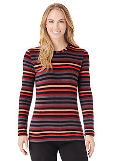 Cuddl Duds® Striped Crew Fleece Top - CD8417565