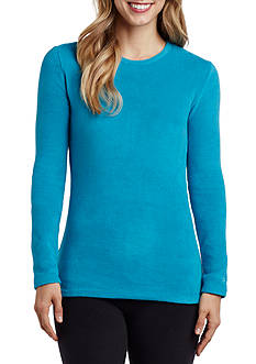 Cuddl Duds Fleecewear with Stretch Long Sleeve Crew Top - CD8418865