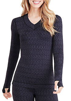 Cuddl Duds® FlexFit® Long Sleeve V-Neck Top - CD8518850