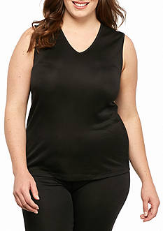 Cuddl Duds® Plus Size Tank Top Softwear With Lace - CD9218835