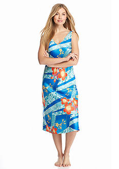 N Natori Sleeveless Blue Note Gown
