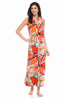 N Natori Mystic Floral Sleeveless Gown
