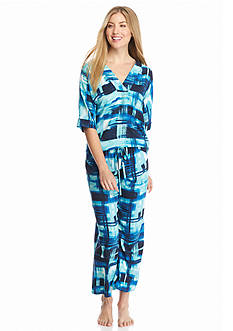 N Natori Brushed Printed Challis Pajama Set