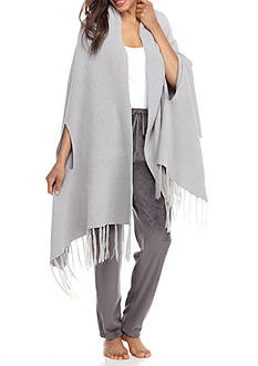 N Natori Blanket Shawl with Fringe