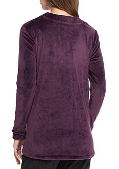 N Natori Velour V-Neck Pajama Top