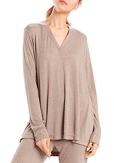 N Natori V-Neck Speckled Top