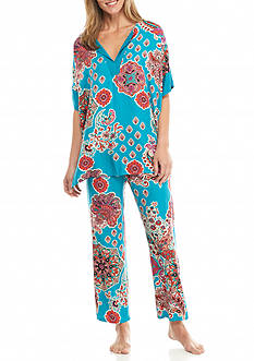 N Natori Medallion Paisley Pajama Set