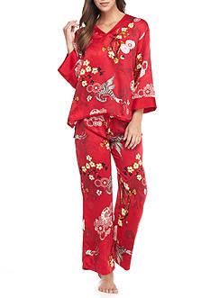 N Natori Satin Phoenix Pajama Set