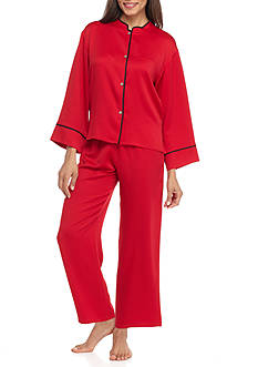 N Natori Solid Hammered Satin Pajama Set