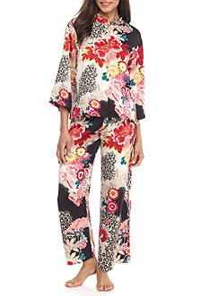 N Natori Untamed Hammered Satin Pajama Set