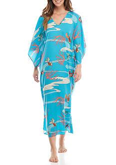 N Natori Printed Kimono Sleeve Caftan