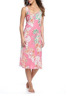 N Natori Pink Floral Satin Gown